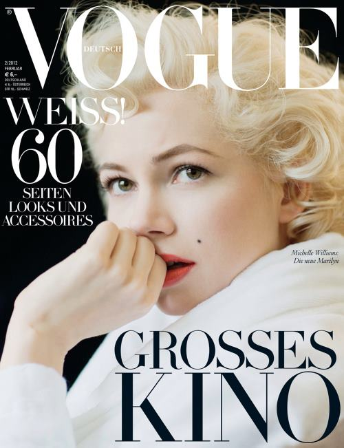 Michelle Williams na okładce Vogue Deutsch
