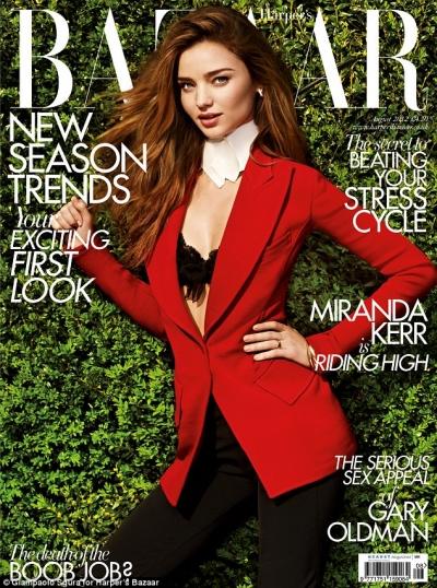 Seksowna Miranda Kerr na okładce Harper's Bazaar UK
