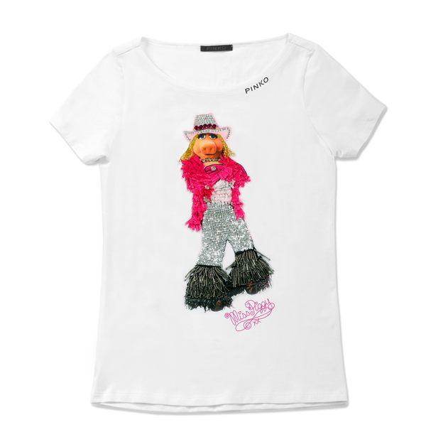 T-shirty PINKO z Miss Piggy (FOTO)