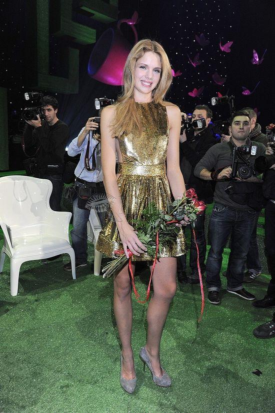 Paulina Sykut w sukience projektu Dawida Wolińskiego