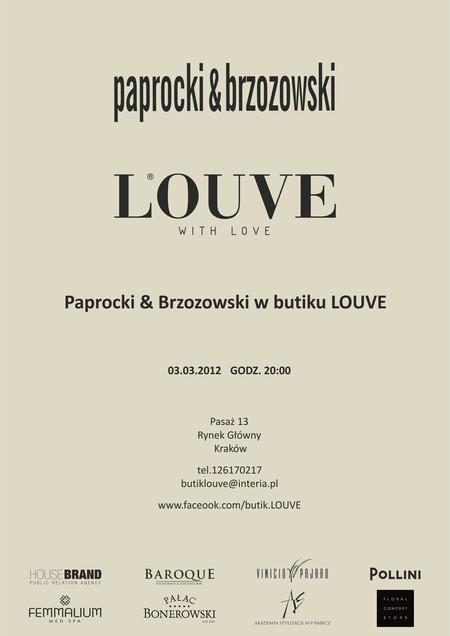 Wieczór z Paprocki & Brzozowski w butiku LOUVE