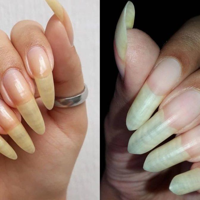 Pokazały długie paznokcie bez lakieru. Fanki manikiuru są zniesmaczone