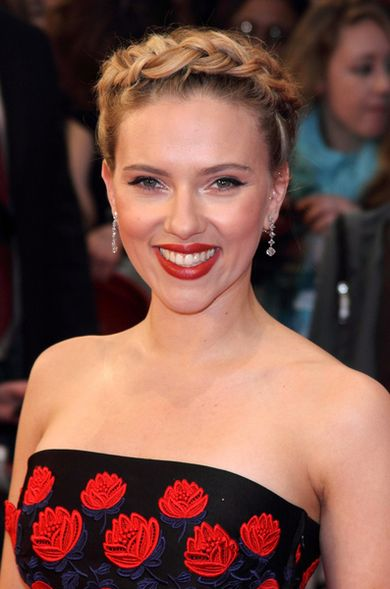 Scarlett Johansson na premierze The Avengers