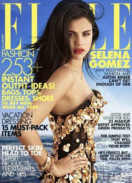 Seksowna Selena Gomez na dwóch okładkach Elle