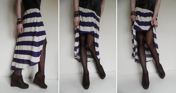 Zrób to sama: spódnica z wyciętym przodem (FOTO)