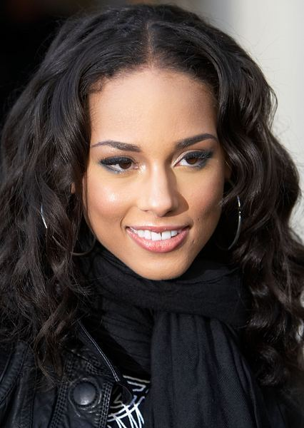 alicia keys hair fryzura