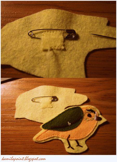 Zrób to sama: broszka-ptak